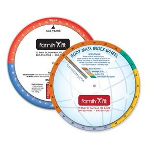 Double Sided Pediatric BMI Wheel