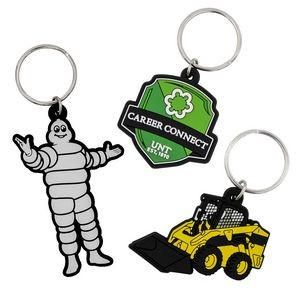 "Custom PVC Keychain w/ 2-D Molded Imprint (1-1/2"")"