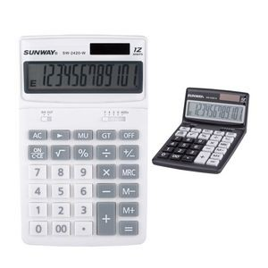 12 Digit Solar Powered Desk Calculator